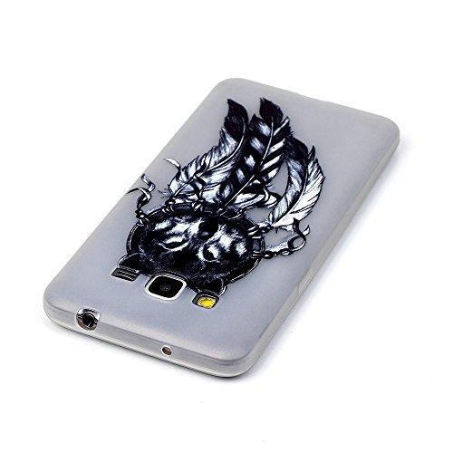 Voguecase® Pour Apple iPhone 6/6S 4.7, Noctilucent TPU Silicone Shell Housse Coque Étui Case Cover (Stripe/ancre)+ Gratuit stylet l'écran aléatoire universelle La tête de loup/plume