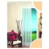 NECOHOME Voile Vorhang Ösen 1er Pack Weiß Dekoschal mit Bleiband Transparent Gardine Deko in 9 Größen (1 Stück 290x175cm)