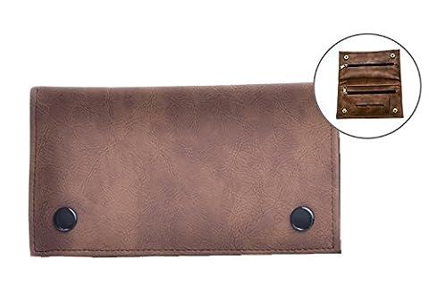 Offre Lagiwa - Blague à tabac en simili cuir couleur au choix avec 1 cadeau bonus (Marron)