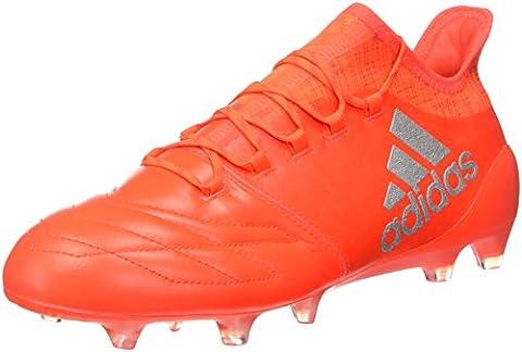 adidas Herren X 16.1 FG Leather Fußballschuhe, Orange (Solar Red/Silver
