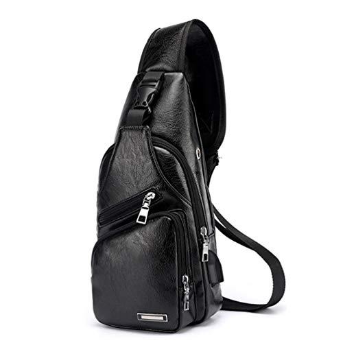 YFbear Crossbody Tasche Brusttasche Sling Crossbag Rucksack Schultertasche Brusttaschen für Damen und Herren Daypack Militär Sporttasche (schwarz)