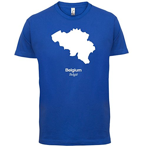 Belgium / Belgien Silhouette - Herren T-Shirt - 13 Farben Royalblau