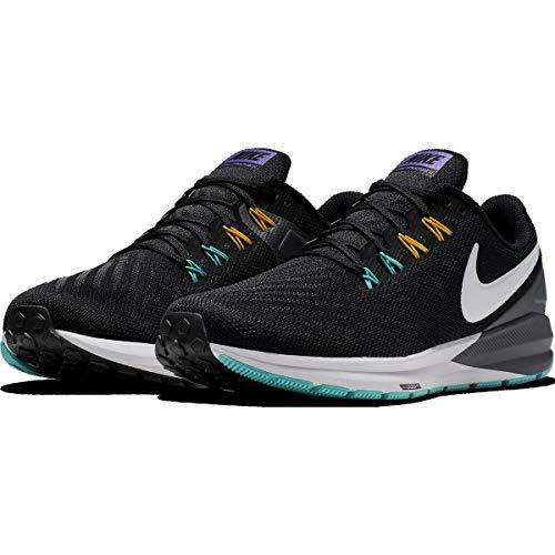 Nike Herren Air Zoom Structure 22 Leichtathletikschuhe, Mehrfarbig (Black/White/Dark Grey/Hyper Jade 000), 43 EU (Air Nike Zoom)