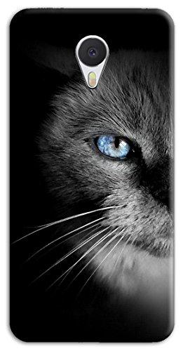 Mixroom - Cover Custodia Case In TPU Silicone Morbida Per Meizu M5S M569 Gatto Occhi Azzurri