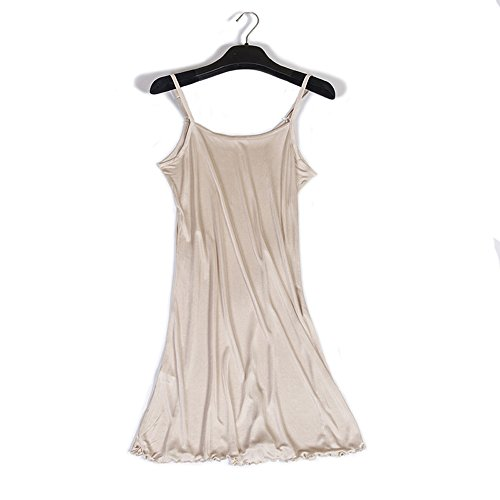 Hoffen Damen Mini Unterkleid Nachthemd Nachtwäsche Negligee Trägern Frauen Shapewear (Nude, M) -