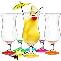 6 Cocktailgläser Mix 480ml Hurricane Cocktailglas Longdrinkgläser Eisgläser