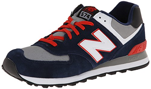 New Balance ML574, Zapatillas Hombre, Azul (Navy/Red/White), 44.5 EU