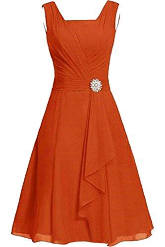 Lamia Braut Damen Orange Einfach Zweitraeger Chiffon Abendkleider ...