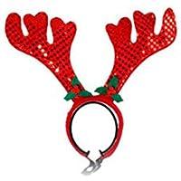 Cute Pet Supplies Navidad Pet Red Antler Diadema Banda para el Cabello