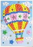 3D Mosaics Creative Sticker (Hot Air Bal...