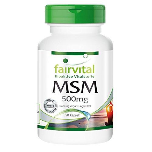 MSM 500 mg Methylsulfonylmethan organischer Schwefel 90 vegetarische Kapseln - Reinsubstanz