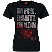 The Walking Dead Mrs. Daryl Dixon Camiseta Mujer Negro