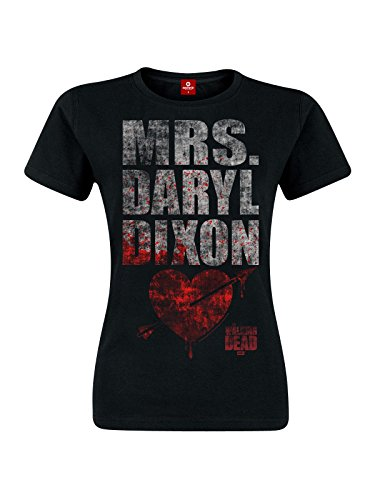 The Walking Dead - maglietta a maniche corte da ragazza Mrs. Dixon - cotone - nero - L