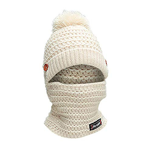 4f1d6141d82 Doingshop Women Winter Hat Scarf 2 in 1 Cutest Earflap Hood Warm Knit Hat  Scarves with