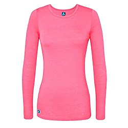 Adar Uniforms Underscrub Medical Long Sleeve Tee For Women - Color Npnk | Size: S