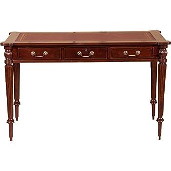 scrivania scrittoio in legno massello di mogano finitura On amazon scrittoio