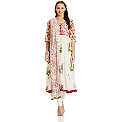 BIBA Women's Anarkali Salwar Suit (SKD4893_red_36)