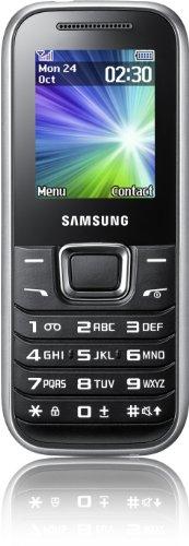 Samsung Mobile Samsung E1230 Handy (4,6 cm (1,8 Zoll) TFT-Farbdisplay, 3,5 cm Klinkenanschluss, UKW-Radio) silber