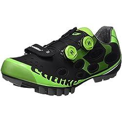 Catlike Whisper MTB 2016, Zapatillas de Ciclismo de Montaña Unisex Adulto, Negro (Negro/Verde 000), 45 EU