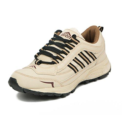 Asian Shoes FUTURE 11 Begie Black Shoes