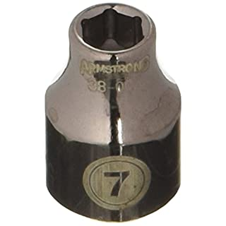 ARMSTRONG ARM38-007 Standard Socket, 6 Point, 3/8