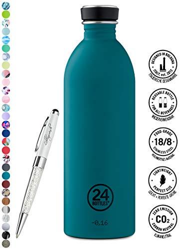 24 Bottles Bottiglia di acqua Urban 250 ml   500 ml   1000 ml colori diversi 24bottles, Contenuto:1000 ml, Colore:atlantic bay