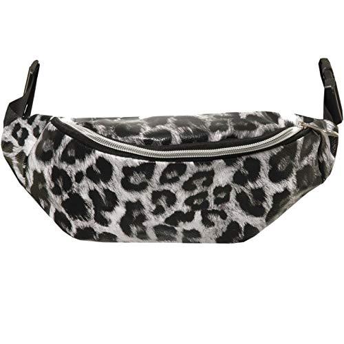 Mesch Sportswear Animal Print Gürteltasche Bauchtasche Hüfttasche Tiermotiv Zebra Kuh Leopard (Leopardenmuster grau)