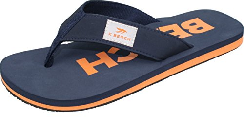 Ultrapower Flip-On Zehentrenner | Flip | Badelatschen | Strandschuhe | Zehenstegpantolette | 43 / UK 9 | Blau/Orange (Beach Herren Flip Flops)