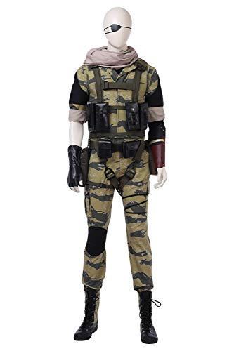 Snake Kostüm Solid - Karnestore Metal Gear Solid V: The Phantom Pain Snake Cosplay Kostüm Whole Set Outfit Herren XXL