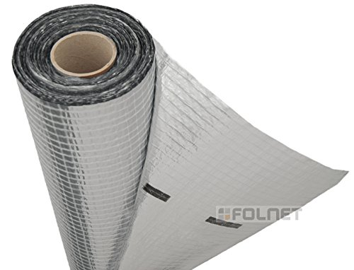 Vapour Barrier and Waterproof Thermal Insulation Aluminium Foil Membrane - Suitable for use in Walls, Floors and Roofs - 1.5m x 50m (75 SQ/M) - 110 G/SM - Single Roll - Free Next Day UK Delivery - Large Discounts Available on Multi Pack