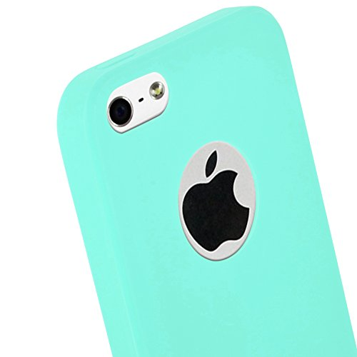Cadorabo - Ultra Slim TPU Candy Etui Housse Gel (silicone) pour Apple iPhone 5 / 5S - Coque Case Cover Bumper en CANDY-ROUGE CANDY-BLEU