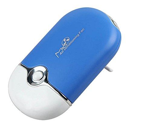 Preisvergleich Produktbild PsmGoods tragbaren Handheld Mini USB Rech Air Conditioner Reise Lüfter mit Lanyard (blau)