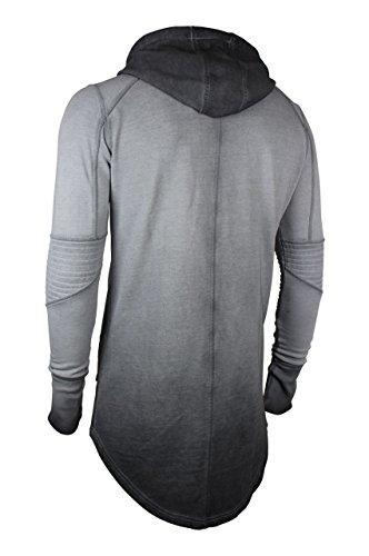 trueprodigy Casual Herren Marken Sweatjacke einfarbig Basic, Oberteil cool und stylisch mit Kapuze (Langarm & Slim Fit), Sweat Jacke für Männer in Farbe: Grau 2573106-0403 Anthracite