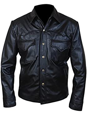 Leatherly Chaqueta de hombre Walking Dead David Morrissey Governor Cuero Chaqueta