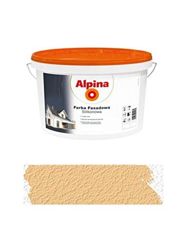 Alpina 2,5 L Silikon-Fassadenfarbe außen Karmelowa, Karamell, matt