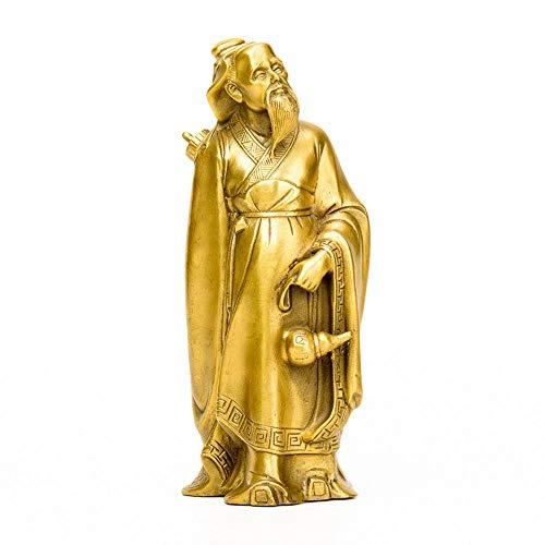 Statue Aus Reinem Kupfer, Medical Doctor Hua Tuo, GlüCkliche Dekoration, Desktop-Sammlung, Symbol FüR Gesundheit Und GlüCk (9,5 X 9 X 23 - Kostüm Medicale