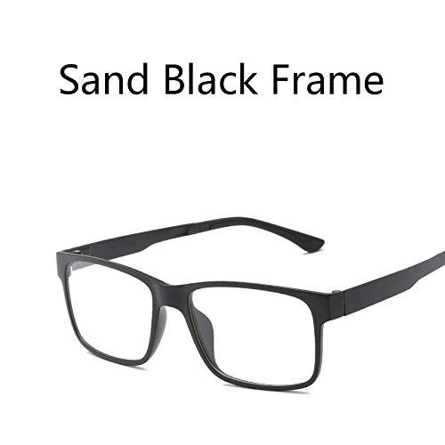 LKVNHP Tr90 Magnet Clip Auf Polarisierte Sonnenbrille Männer Frauen Platz Fahrspiegel Sonnenbrille Männlichen Doppelgläser Oculos De Sol Uv400Sand Schwarz Rahmen
