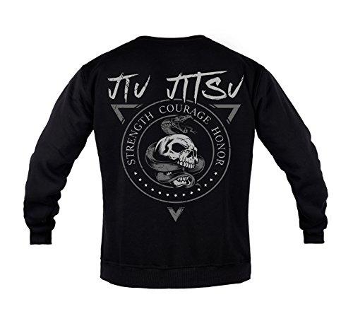 Rule Out Sweatshirt.Brazilian Jiu Jitsu. BJJ. Gym. Kampfkunst. Sportswear.MMA. Crewneck. Martial Arts. Casual(Größe Large)