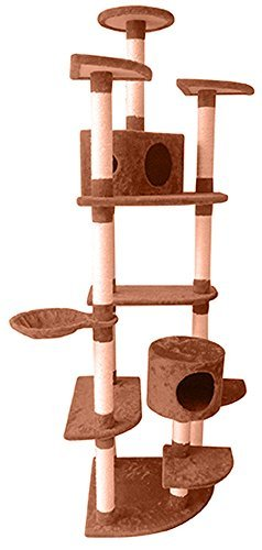Penn-Plax 205,7cm Cat Activity Baum SLS Klima Pocket Deluxe Hochhaus-Katze-Apartment mit Mehreren Ebenen für, Kratzen, und Strecken thront -