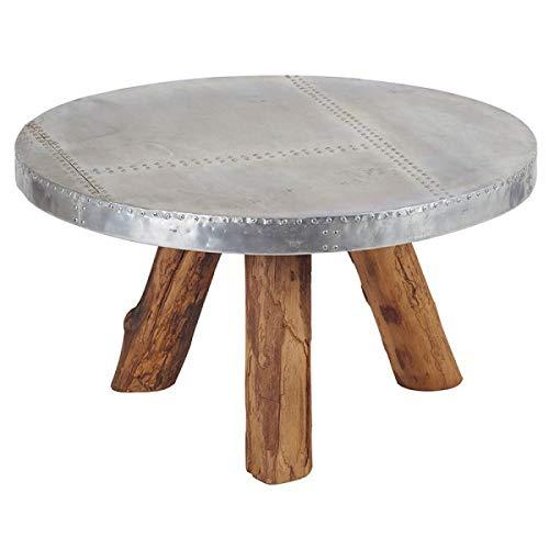 Casita Table Basse Ronde Bimi en Teck & Aluminium