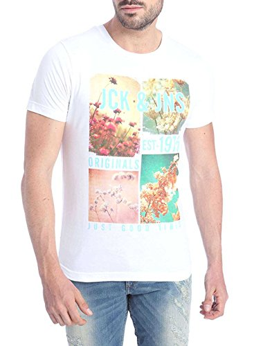 Jack & Jones Men's Casual T-Shirt (5713023358618_White_Small)  available at amazon for Rs.397