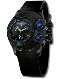 Offshore Limited 003 A - Reloj cronógrafo de cuarzo para hombre con correa de silicona, color negro