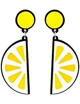 MagiDeal 1 Paar Modische Ohrstecker Zitrone Stil Ohrringe Ohrgehänge für Mädchen - Gelb