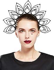 Fantherin Mary Halo Crown Headband Goddess Zip Tie Spiked Halo Crown Halloween Costume Headpiece Headdress for