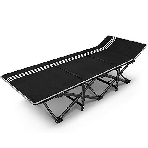XITER Campingstühle Für Schwere Menschen Folding Outdoor Garden Patio Liegestühle Metall Chaise Lounge Chair 200 kg (Farbe : with Mattress) - Metall Outdoor Patio-möbel