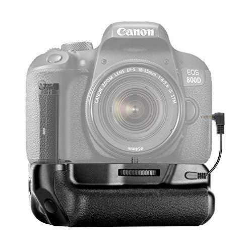 Neewer Vertikaler Batteriegriff mit Batteriehalter Kompatibel mit Canon EOS 800D/Rebel T7i/Kiss X9i Arbeiten mit 1 oder 2 Teilen Canon LP-E17 Batterie (Batterie Nicht enthalten)