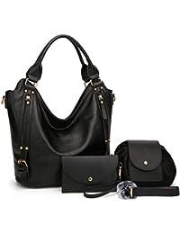 615ef2c221 Women Handbags Hobo Shoulder Bags Tote Synthetic Leather Handbags Fashion  Large Capacity Bags 4pcs Tote Bags