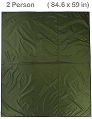topnaca 234persona espesan Oxford funda de tela de lona de camping refugio tienda de campaña lona toldo impermeable para tienda de campaña manta Mat para pesca PLAYA senderismo mochila, 3-4 Person