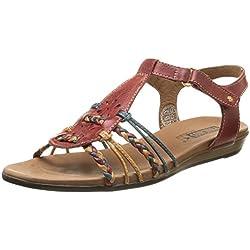 Pikolinos ALCUDIA 816-3 - sandalias abiertas de cuero mujer, color rojo, talla 39