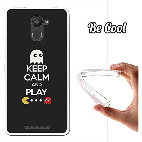 Becool® - Funda Gel Flexible para Bq Aquaris U Plus, Carcasa TPU fabricada con la mejor Silicona, protege y se adapta a la perfección a tu Smartphone y con nuestro exclusivo diseño. Keep Calm